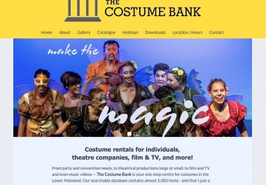 The Costume Bank - homepage