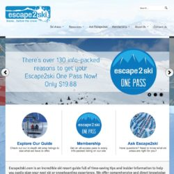 Escape2ski Website