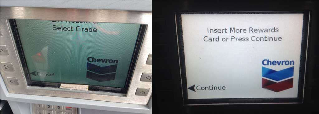 Chevron screen - before, and after!