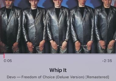 iOS Music app - song screen